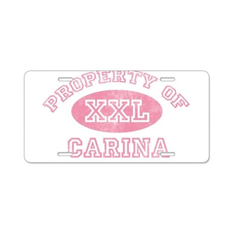Property of Carina Aluminum License Plate