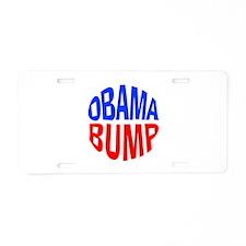 Obama Bump Aluminum License Plate