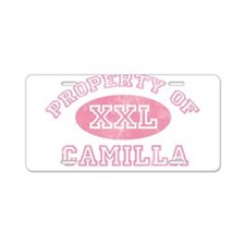 Property of Camilla Aluminum License Plate