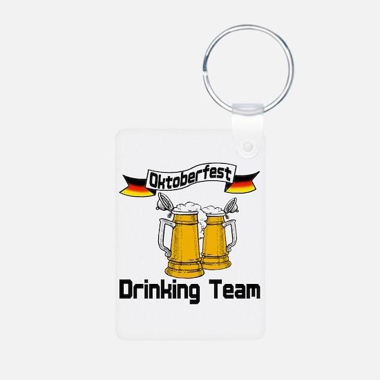 Oktoberfest Drinking Team Aluminum Photo Keychain