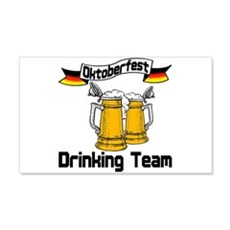 Oktoberfest Drinking Team 22x14 Wall Peel