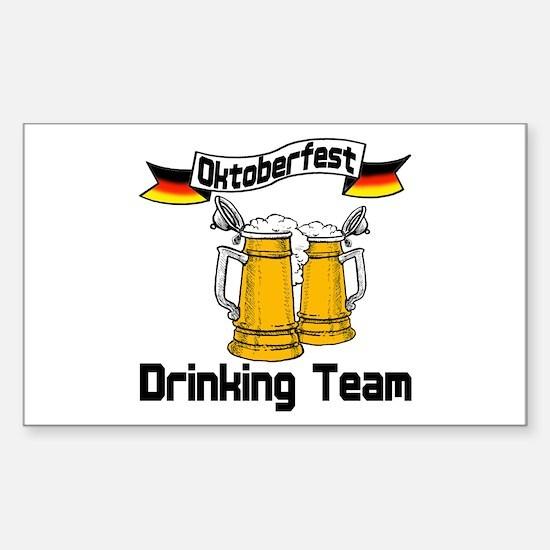 Oktoberfest Drinking Team Sticker (Rectangle)
