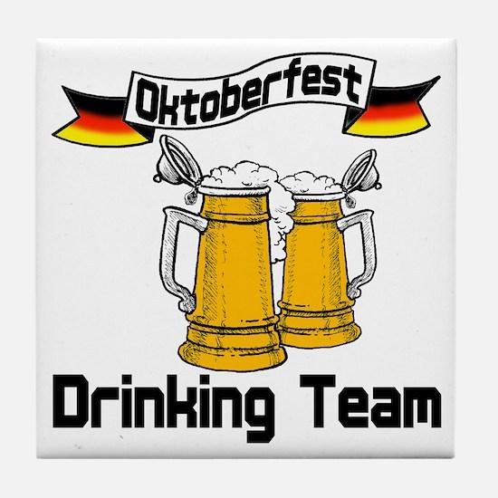 Oktoberfest Drinking Team Tile Coaster