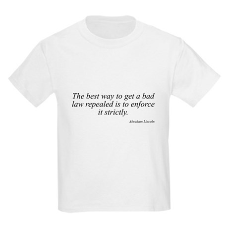 Abraham Lincoln quote 93 Kids T-Shirt