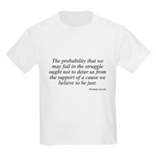 Abraham Lincoln quote 98 Kids T-Shirt