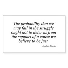 Abraham Lincoln quote 99 Rectangle Decal