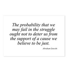 Abraham Lincoln quote 99 Postcards (Package of 8)