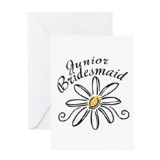 Daisy Jr Bridesmaid Greeting Card
