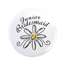 "Daisy Jr Bridesmaid 3.5"" Button"