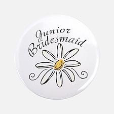 """Daisy Jr Bridesmaid 3.5"""" Button"""