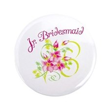 "Junior Bridesmaid 3.5"" Button"