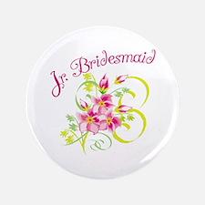 "Junior Bridesmaid 3.5"" Button"