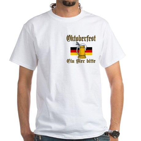 A Beer Please White T-Shirt