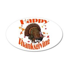 Happy Thanksgiving 22x14 Oval Wall Peel