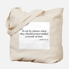 Abraham Lincoln quote 110 Tote Bag
