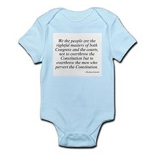Abraham Lincoln quote 115 Infant Creeper