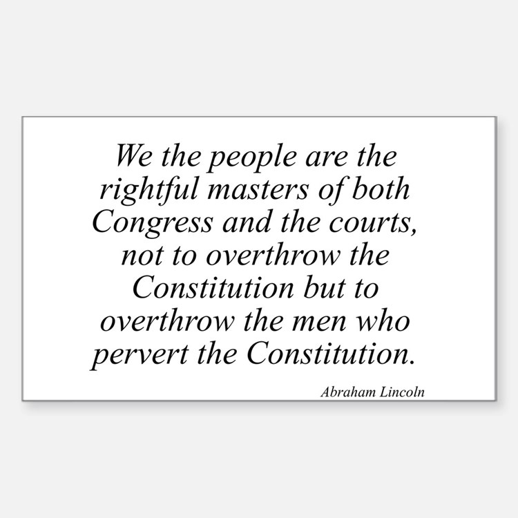Abraham Lincoln quote 115 Rectangle Decal