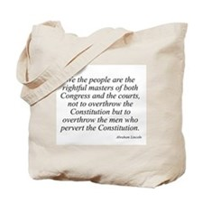 Abraham Lincoln quote 115 Tote Bag