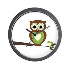 Owl 1 Wall Clock