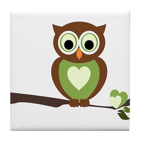 Owl 1 Tile Coaster