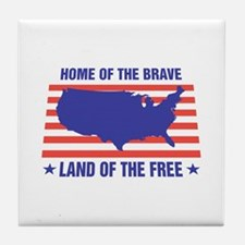 Home of the Brave Tile Coaster