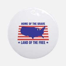 Home of the Brave Ornament (Round)