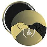 Black & Yellow Labrador Tying Knot Magnets (100)