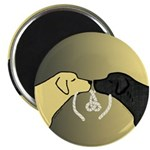 Black & Yellow Labrador Tying Knot Magnets (10)