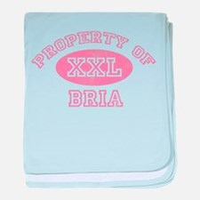Property of Bria baby blanket