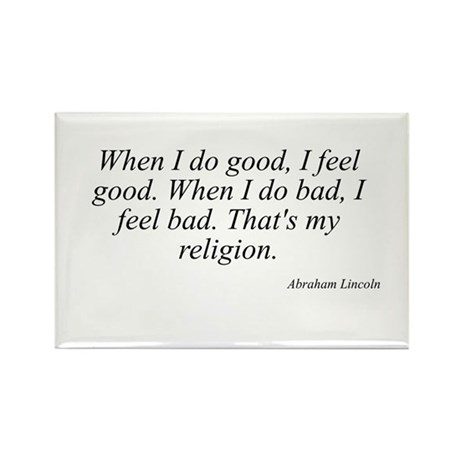 Abraham Lincoln quote 120 Rectangle Magnet