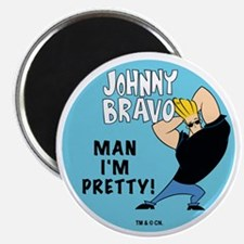 "Johnny Bravo Man I'm Pretty 2.25"" Magnet (100"