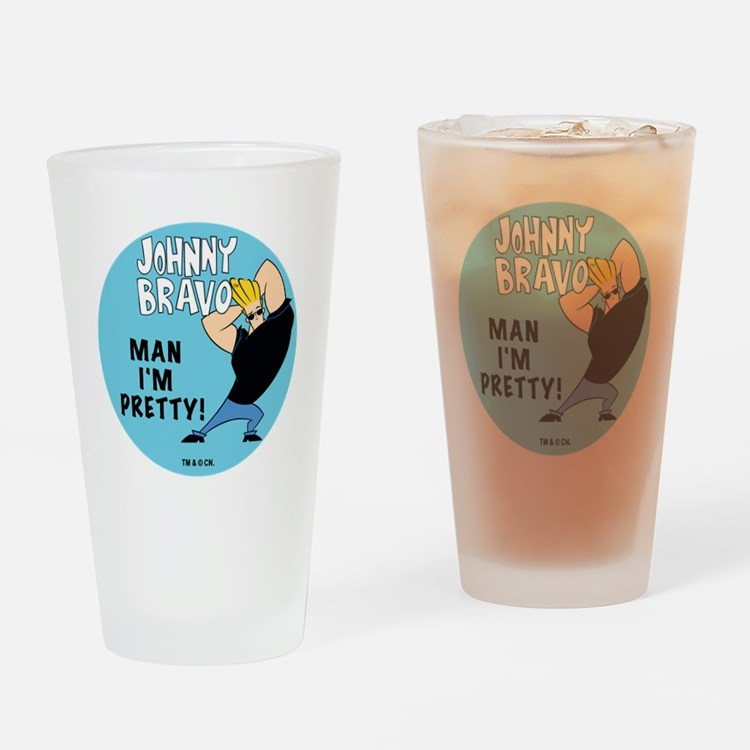 Johnny Bravo Man I'm Pretty Drinking Glass