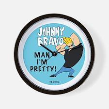 Johnny Bravo Man I'm Pretty Wall Clock