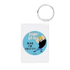 Johnny Bravo Man I'm Pretty Keychains
