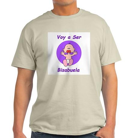 Voy a Ser Bisabuela Ash Grey T-Shirt