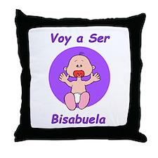 Voy a Ser Bisabuela Throw Pillow