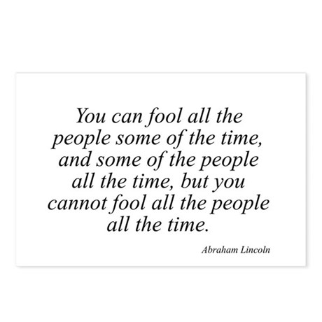 Abraham Lincoln quote 127 Postcards (Package of 8)