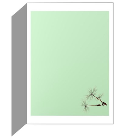 Dandelion and Little Green Hu Greeting Card