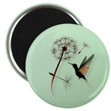 Dandelion and Little Green Hu Magnet