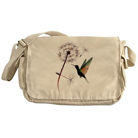 Dandelion and Little Green Hu Messenger Bag