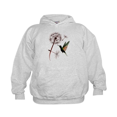 Dandelion and Little Green Hu Kids Hoodie