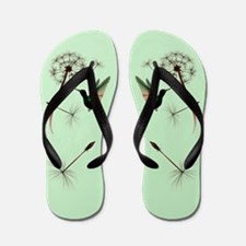 Dandelion and Little Green Hu Flip Flops