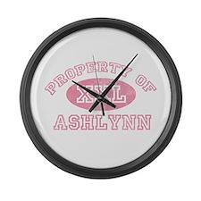 Property of Ashlynn Large Wall Clock
