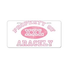 Property of Aracely Aluminum License Plate