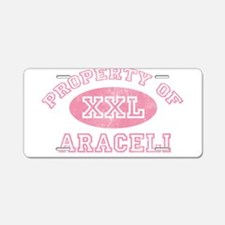 Property of Araceli Aluminum License Plate