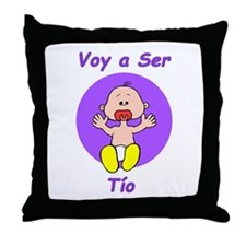 Voy a Ser Tío Throw Pillow