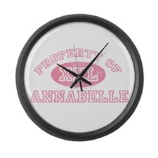 Property of Annabelle Large Wall Clock