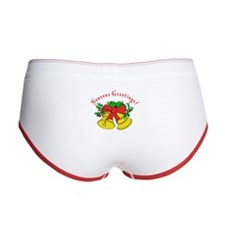 Christmas Wreath Women's Boy Brief
