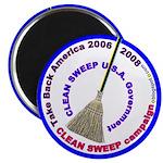Clean Sweep campaign.blogspot.com Magnet