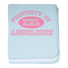 Property of Angelique baby blanket